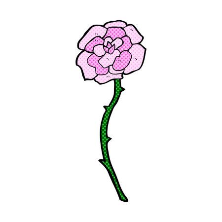 rose tattoo: rose tattoo retro comic book style cartoon Illustration