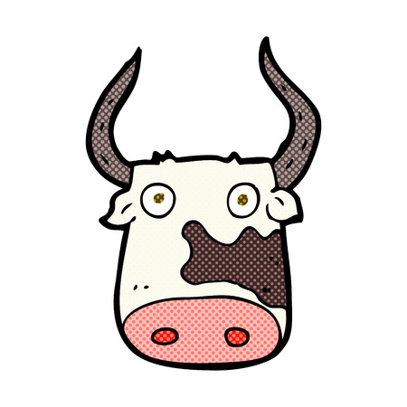 funny ox: retro comic book style cartoon cow