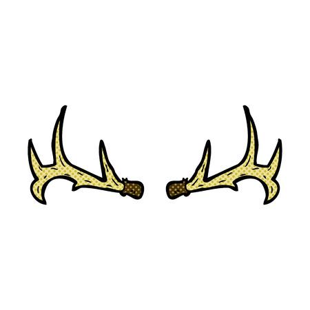 antlers: retro comic book style cartoon antlers Illustration