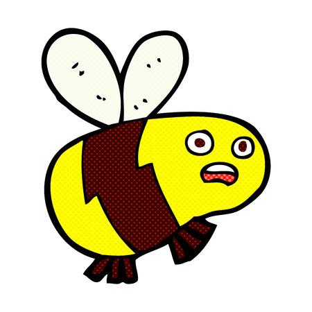 comic wasp: retro comic book style cartoon bee