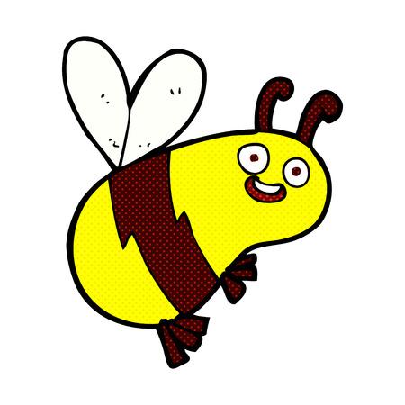 comic wasp: funny retro comic book style cartoon bee