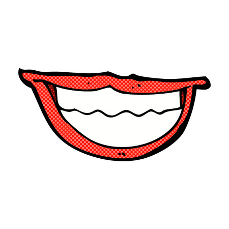 grinning: retro comic book style cartoon grinning mouth
