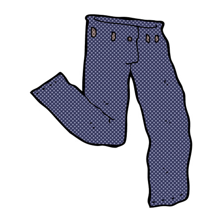retro comic book style cartoon jeans