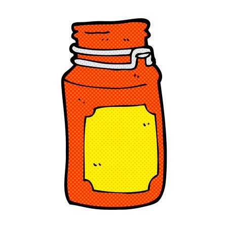 cartoon kitchen: retro comic book style cartoon kitchen jar Illustration