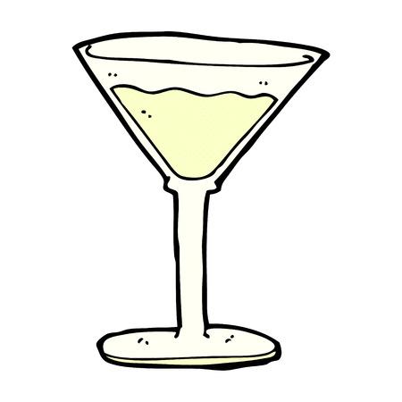 retro comic book style cartoon cocktail Illustration