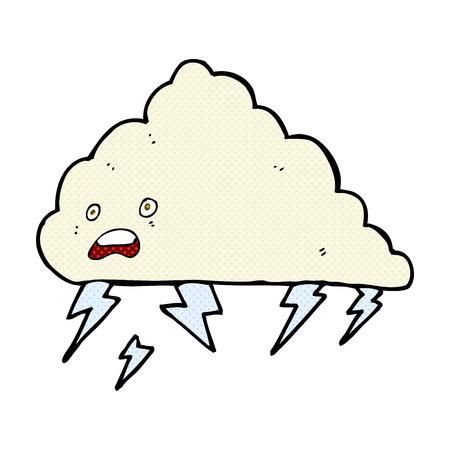thundercloud: retr� stile fumetto fumetto nube temporalesca