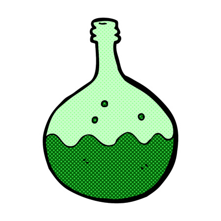 bubbling: retro comic book style cartoon bubbling chemicals