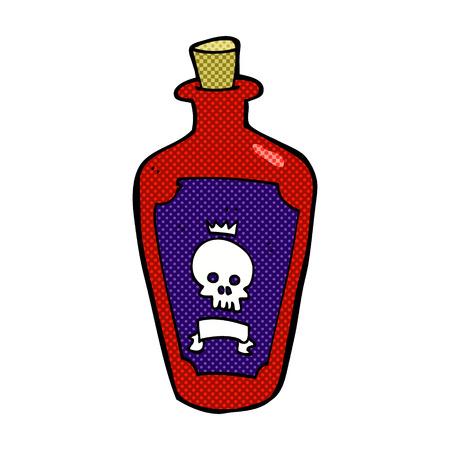 poison: retro comic book style cartoon poison Illustration
