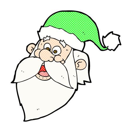 jolly: retro comic book style cartoon jolly santa claus face