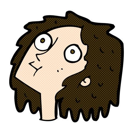 staring: retro comic book style cartoon staring woman