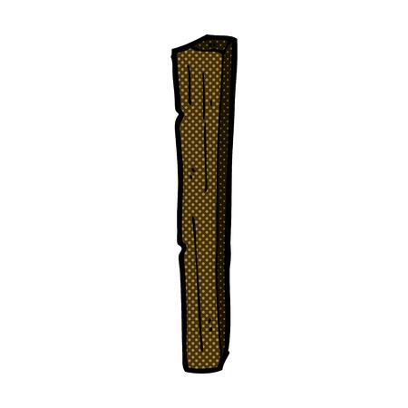 wooden post: de dibujos animados retro del estilo del c�mic poste de madera