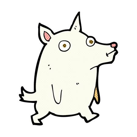 pent: retro comic book style cartoon funny little dog
