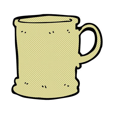 tankard: retro comic book style cartoon mug