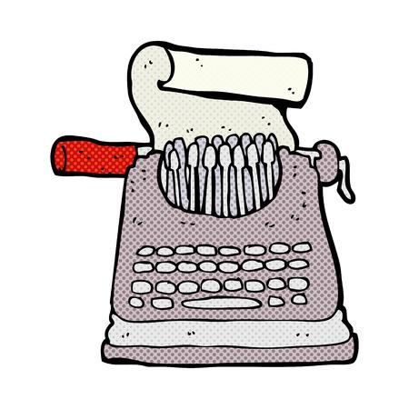 m�quina de escribir vieja: m�quina de escribir de la historieta del estilo del c�mic retro