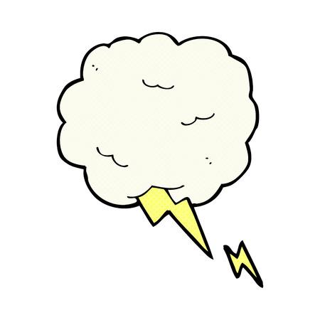 thundercloud: retr� stile fumetto simbolo del fumetto nube temporalesca