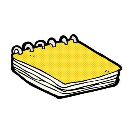 mani legate: retr� stile fumetto fumetto notepad