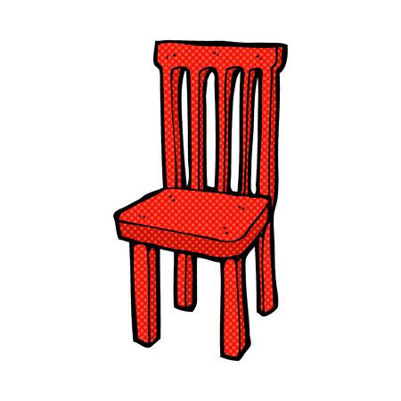 chair wooden: retro comic book style cartoon wooden chair