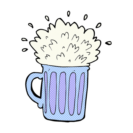 frothy: fumetto retr� stile fumetto birra schiumosa