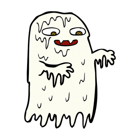 slime: retro comic book style cartoon gross slime ghost