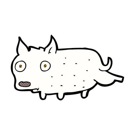cocking: retro comic book style cartoon little dog cocking leg