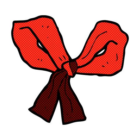 mani legate: retr� stile fumetto fumetto fiocco rosa Vettoriali