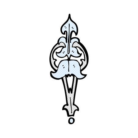 clasp: retro comic book style cartoon ornate clasp