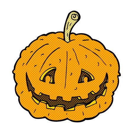 grinning: retro comic book style cartoon grinning pumpkin