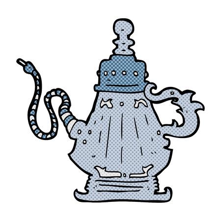 paraphernalia: retro comic book style cartoon hookah Illustration