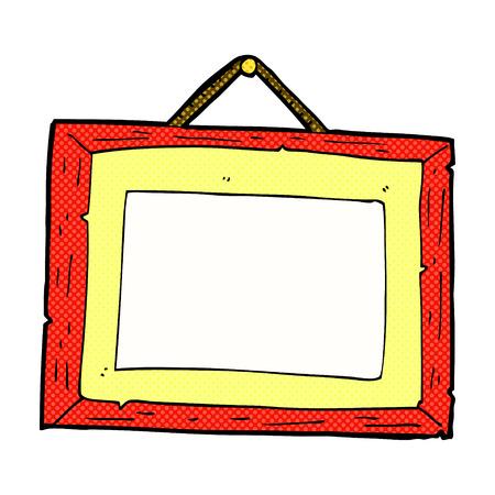 retro comic book style cartoon picture frame