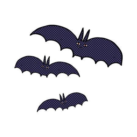 vampire bats: retro comic book style cartoon vampire bats Illustration