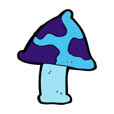 toadstool: retr� stile fumetto fumetto fungo