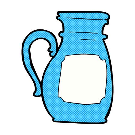 jug: retro comic book style cartoon jug