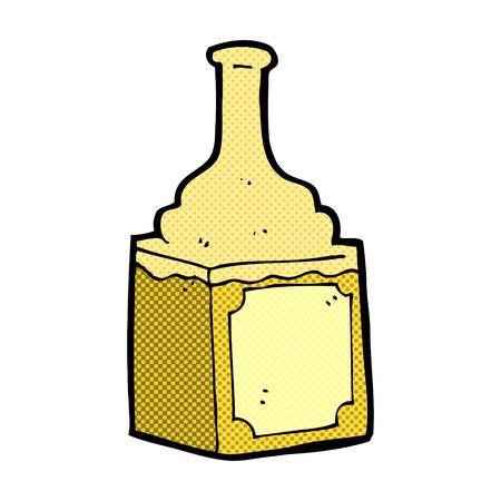 whisky bottle: retro comic book style cartoon whiskey bottle Illustration