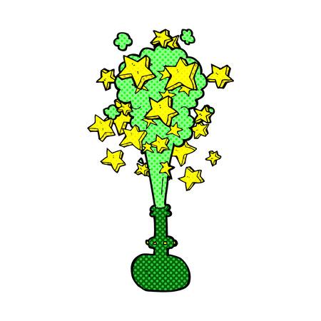 pocion: retro estilo del c�mic poci�n m�gica de dibujos animados