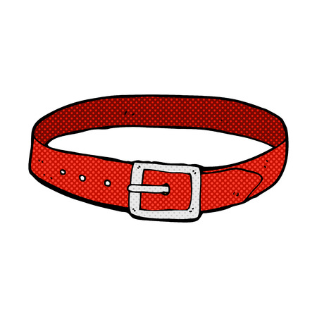 leather belt: retro comic book style cartoon leather belt