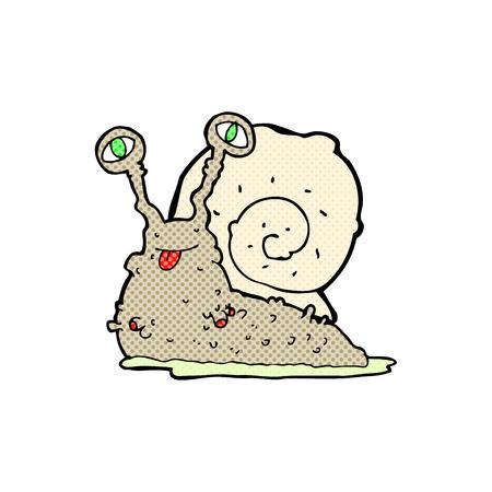 nacktschnecke: Retro-Comic-Stil Cartoon Brutto slug