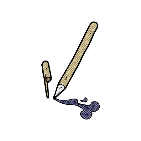 rollerball: retro comic book style cartoon pen
