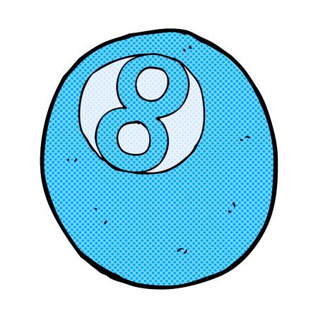 bola de billar: retro estilo del c�mic bola de billar de la historieta