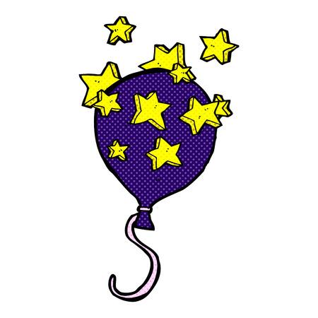 retro comic book style cartoon balloon Vector