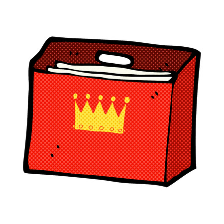 organised: retro comic book style cartoon royal business files Illustration