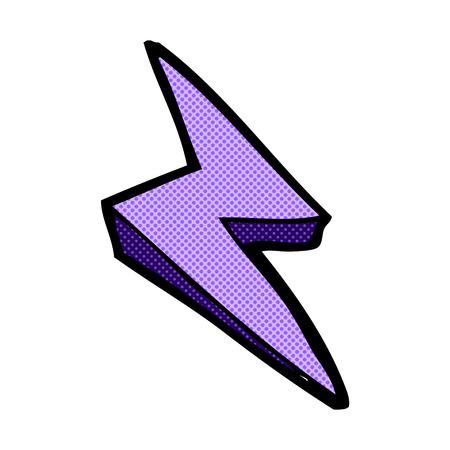 retro comic book style cartoon lightning bolt symbol Vector