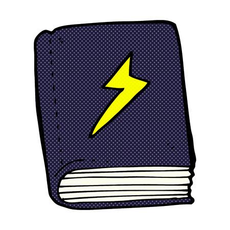 spell: retro comic book style cartoon magic spell book Illustration