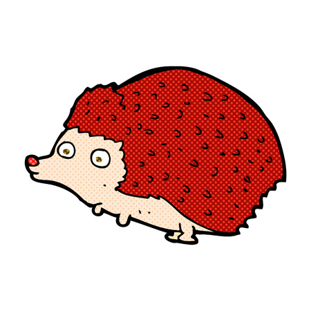 h�risson cartoon: h�risson r�tro bande dessin�e de style de bande dessin�e