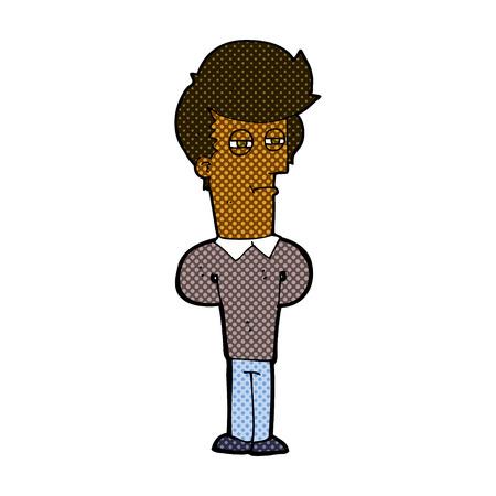 jaded: retro comic book style cartoon jaded man
