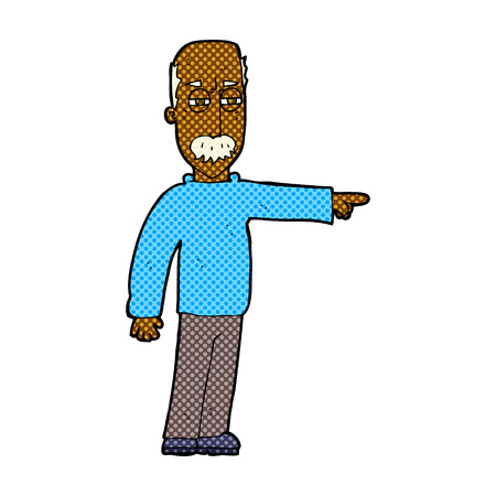 get out: retro comic book style cartoon old man gesturing Get Out! Illustration