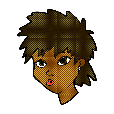 curious: retro comic book style cartoon curious girl