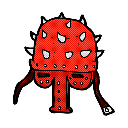 �spiked: estilo de dibujos animados c�mic retro pinchos casco