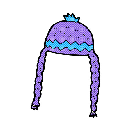 woolly: retro comic book style cartoon cool hat