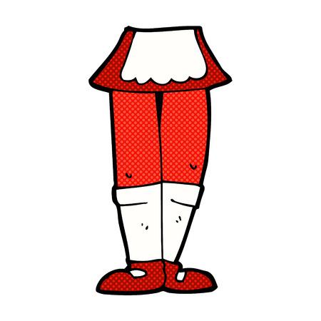 piernas de mujer: dibujos animados de estilo c�mic retro piernas femeninas Vectores