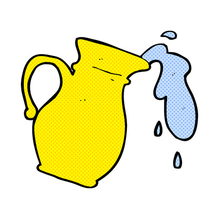 water jug: retro comic book style cartoon water jug